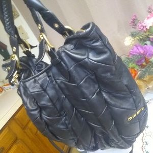 f3864365d56ce Miu Miu · Authentic MiuMiu Nappa leather patchwork bag